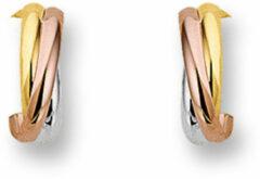 Zilveren The Jewelry Collection Stekeroorringen - Geelgoud;ros�goud;witgoud