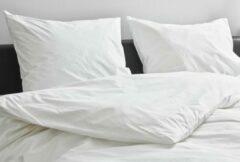 Witte Kepri Dekbedovertrek - Tweepersoons - Percale Katoen - Preppy White - Duurzaam - 400TC - 200 x 220 cm