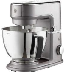 Grijze WMF Küchenminis Edition Mini-Küchenmaschine, platzsparend, Mixer für Smoothies, 3l-Schüssel, Softanlauf, Planeten-Rührwerk, 8-stufige Knetmaschine, 3 Rührwerkzeuge, 430W, edelstahl matt, grau