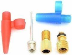 Merkloos / Sans marque Fiets nippelset / verloopnippels 5-delig - Voor luchtbedden en ballen