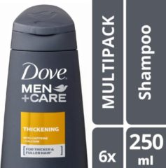 Dove Men+Care Thickening Shampoo - 6 x 250 ml - Voordeelverpakking