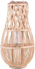 Beliani TONGA - Windlicht - Lichte houtkleur - Bamboohout