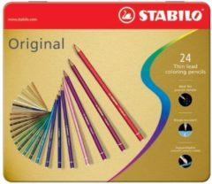 STABILO Original Kleurpotloden - Metalen Etui 24 stuks