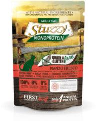 Stuzzy Cat No Grain Pouch 85 g - Kattenvoer - Rund Graan&Glutenvrij - Kattenvoer