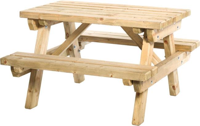 Afbeelding van Hillhout Junior picknicktafel Sven bladmaat 89 x 52 cm