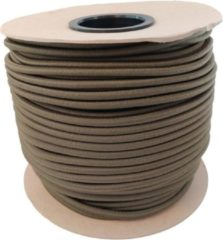 ABC-Led 50 meter - Elastisch Touw - Camo groen - 8mm- elastiek op rol