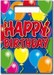 Folat Happy Birthday Uitdeelzakjes Balloons - 8 stuks