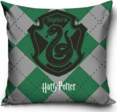 Groene CharactersMania Harry Potter Kussen 40x40cm Polyester Sierkussen inclusief vulling