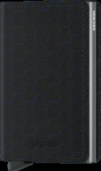 Zwarte Secrid Slim Wallet Portemonnee Optical Black Titanium