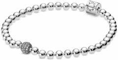 Pandora 598342CZ Armband Beads and Pave zilver 19 cm