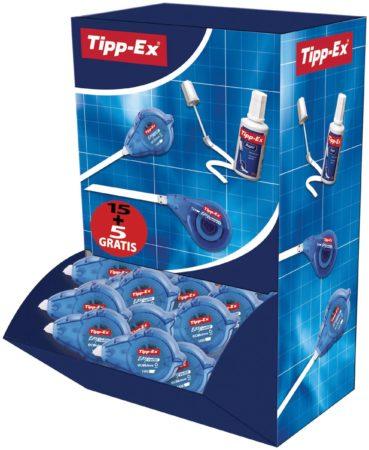 Afbeelding van Tipp-Ex Pack 15 + 5 droge corrector Tipp-es Easy Refill breedte 5 mm - lengte 14 m.
