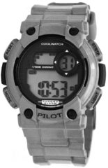 Coolwatch by Prisma CW.277 Kinderhorloge Pilot digitaal zilverkleurig 35 mm