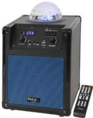 Blauwe Ibiza Sound disco speaker met LED effect - 100 watt