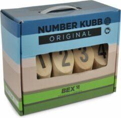 Bruine Engelhart Bex Sport Original Numbers Kubb Rubberhout