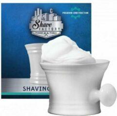 The Shave Factory Scheerkom Wit, Shaving Mug, Aardewerken Scheerkom