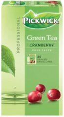 Pickwick thee, groene thee Cranberry, pak van 25 zakjes