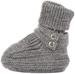 NAME IT Baby Knitted Wool Slippers Men Grey
