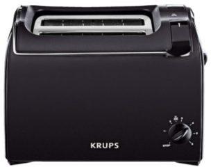 Krups Toaster Pro Aroma KH1518, für 2 Scheiben, 700 Watt, schwarz