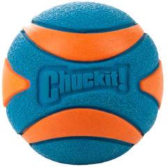 Chuckit Ultra Squeaker Ball - Hondenspeelgoed - 7.6 cm Blauw Oranje L