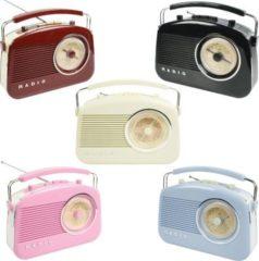 KOENIG König AM/FM-Radio Retro-Design in verschiedenen Farben Farbe: Elfenbein