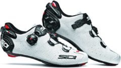 Witte Sidi Wire 2 Carbon Air Schoenen Heren, white/black Schoenmaat EU 43