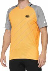 100% MTB Fietsshirt Celium - OranjeGrijs - M