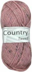 Cheval Blanc Country Tweed wol en acryl garen - roze (289) - pendikte 4 a 4,5 mm - 1 bol van 50 gram