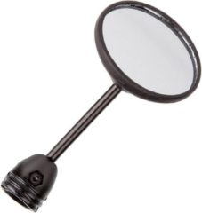 Zwarte Mirage Spiegel Bumm Groot 80mm rond bev. in/op stuur gebogen 903/3