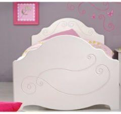 Bett 90 x 200 cm weiss tiefgezogen lackiert Parisot Alice 5