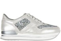 Argento Hogan Scarpe sneakers donna in pelle h222 glitter