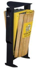 Grijze Arkea prullenbak 2 x 60L gemaakt van hout en 3L asbak in 3 kleuren van Rossignol
