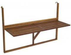 Bruine Brulo Balkontafel inklapbaar 120*44.5 cm Acacia hout - groot