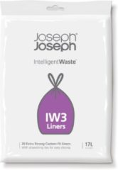 Joseph Joseph Intelligent Waste Afvalzakken IW3 - Kunststof - 17 L - Pak van 20 Stuks - Wit