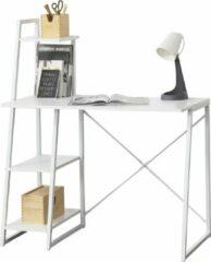 [en.casa] Bureau met 3 planken Aalborg wit
