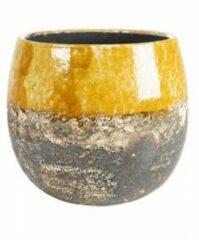 Ter Steege Pot Lindy Ochre Okergele ronde bloempot voor binnen 23 cm