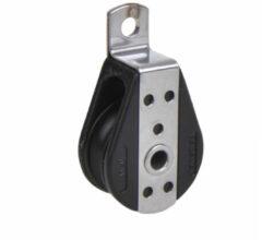 Zwarte Seilflechter 1 schijfs dek blok voor 8mm koord, gesloten met kogellager, 750 daN