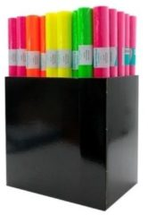 2x Kaftpapier folie schoolboeken neon roze 3 meter