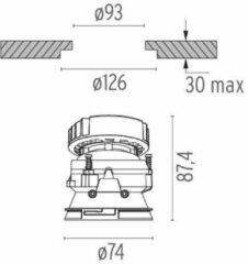Flos Architectural Kapø80 Adjustable Optic Medium AN 03.4185.BU Blauw