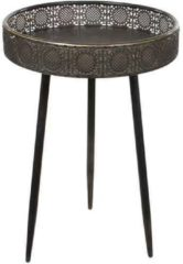 Bronze Mica Decorations - ronde tafel bronskleurig - maat in cm: 58 x 40