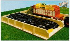 Bruine Kids Globe KidsGlobe Farming sleufsilo - hout - 38 x 46 x 5 cm voor tractoren 1:32