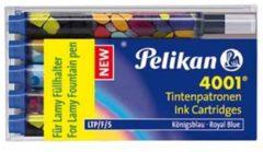 Inktpatroon Pelikan 4001 voor Lamy vulpen blauw doosje à 5 stuks