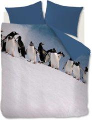 Blauwe Ambiante Penguins - Dekbedovertrek - Lits-jumeaux - 240x200/220 cm - IJs Blauw