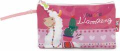 Arditex toilettas Llama meisjes 0,3 liter PVC/polyester roze