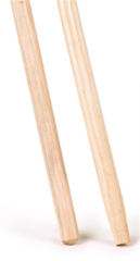 ARO-Household Bezemsteel hout ca. 120cmx24mm gepunt