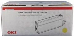 OKI C7100, C7300, C7350, C7500 Tonercartridge Geel Standard Capacity 10.000 Paginas 1-pack