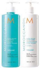 Moroccanoil Volume Shampoo + Conditioner 500ml - Normale shampoo vrouwen - Voor Alle haartypes - Conditioner voor ieder haartype