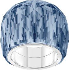 Blauwe Swarovski Nirvana Ring (Maat: 17) - Zilver