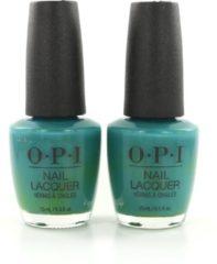 Turquoise O.P.I Nagellak Teal Me More, Teal Me More (2 stuks)