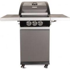 "Patton Patio Pro Chef 2+ -burner - Gasbarbecue - incl. zijbrander - incl. glazen vensterkap -""Frozen Grey"" - Outdoorkitchen - Mat grijs"