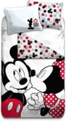 Rode Disney Mickey Mouse Kiss - Dekbedovertrek - Eenpersoons - 140 x 200 cm - Multi